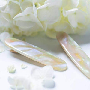 Fairy Dust Oval Alligator Hair Clip - Eco Acetate