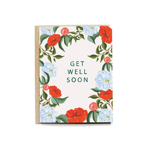 Floral Get Well Soon Card - Pen + Pillar -Freehand Market