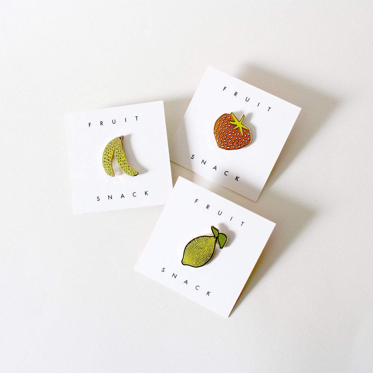 Fruit Snacks Enamel Pin - Freckled Fuchsia -Freehand Market