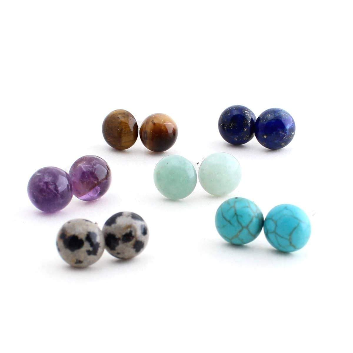 Gemstone Studs - Crafts & Love -Freehand Market