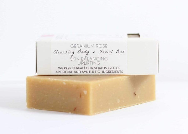 Geranium Rose Goat's Milk Soap Bar - Little Seed Farm -Freehand Market
