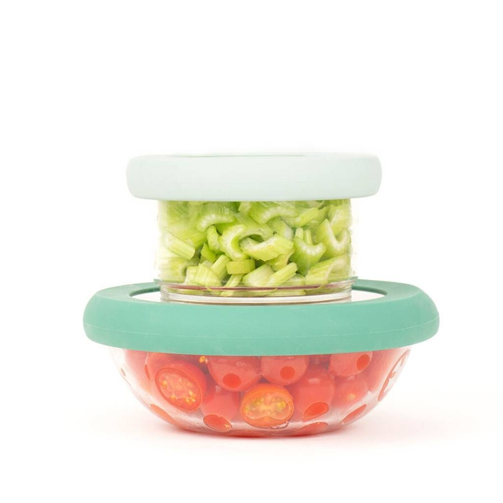 Glass + Silicone Bowl Cover (Set of 2) - Food Huggers -Freehand Market
