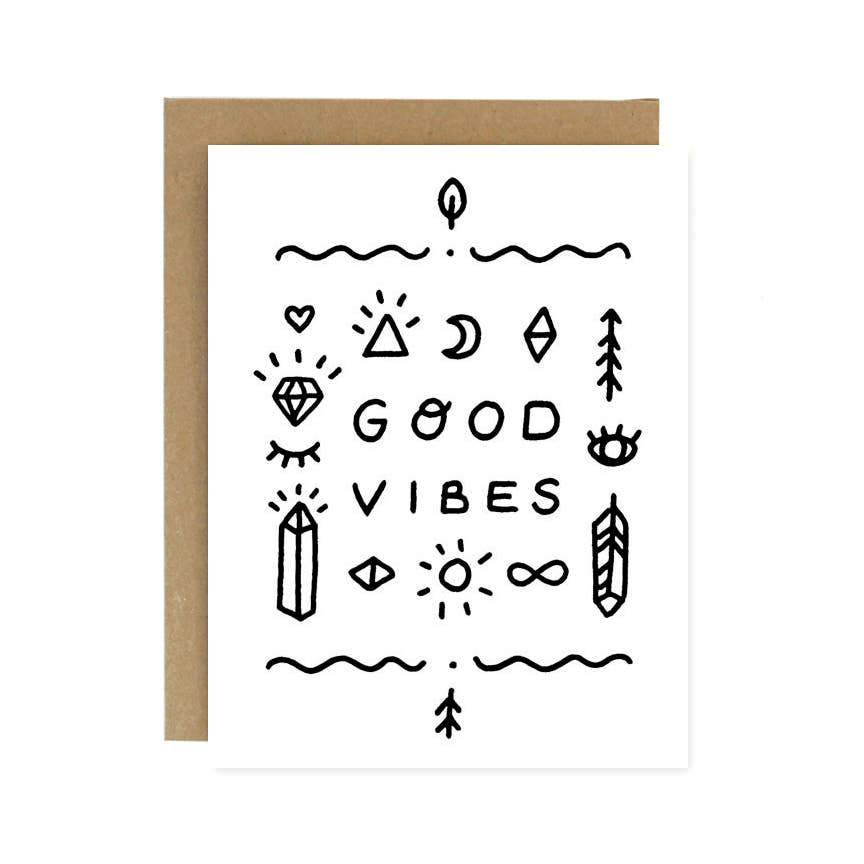 Good Vibes Greeting Card - Worthwhile Paper -Freehand Market