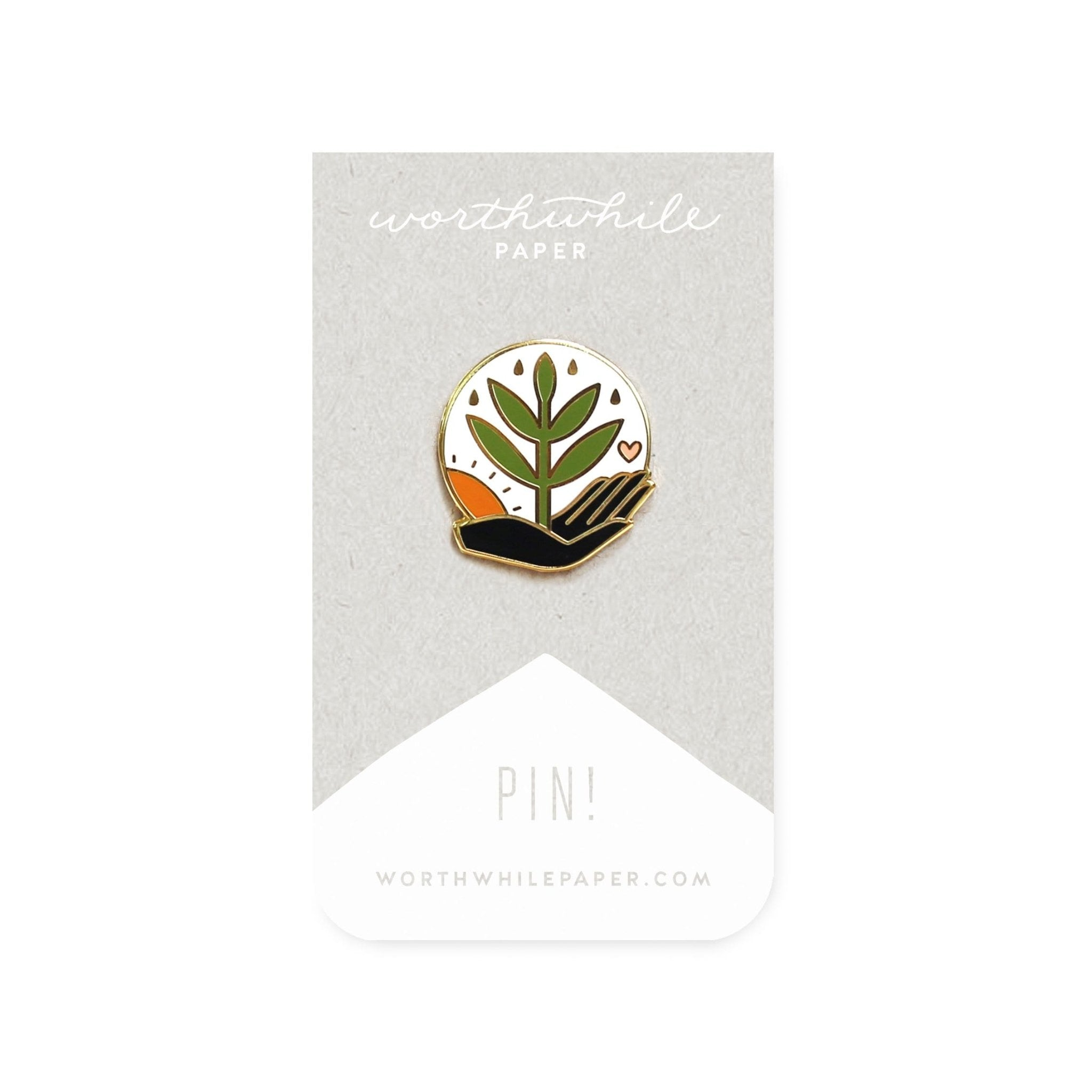 Grow Enamel Pin - Worthwhile Paper -Freehand Market
