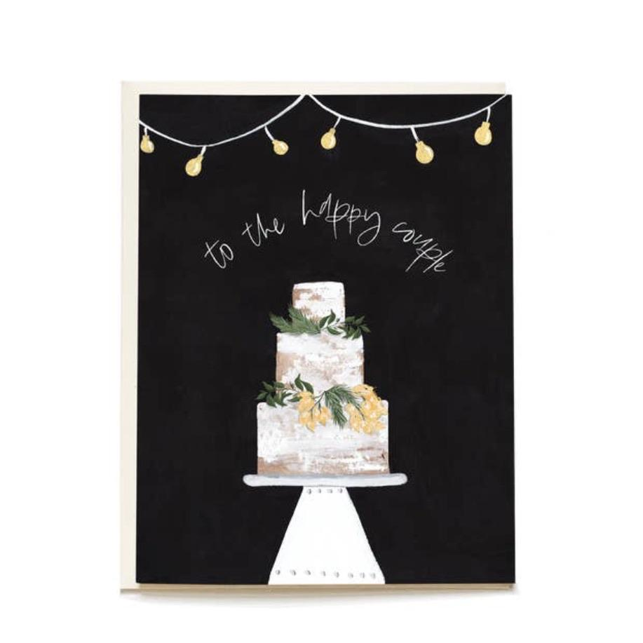Happy Couple Cake Greeting Card - Pen + Pillar -Freehand Market