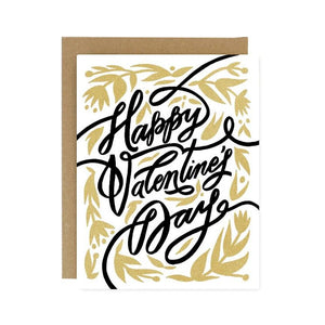 Happy Valentine's Day Flourish Greeting Card - Worthwhile Paper -Freehand Market