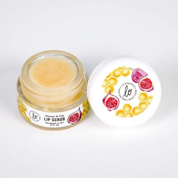 Honey & Fig Luxury Lip Scrub - Lo & Behold Naturals -Freehand Market