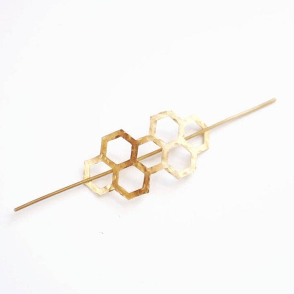 Honeycomb Hair Pin - Pauline Stanley Studio -Freehand Market