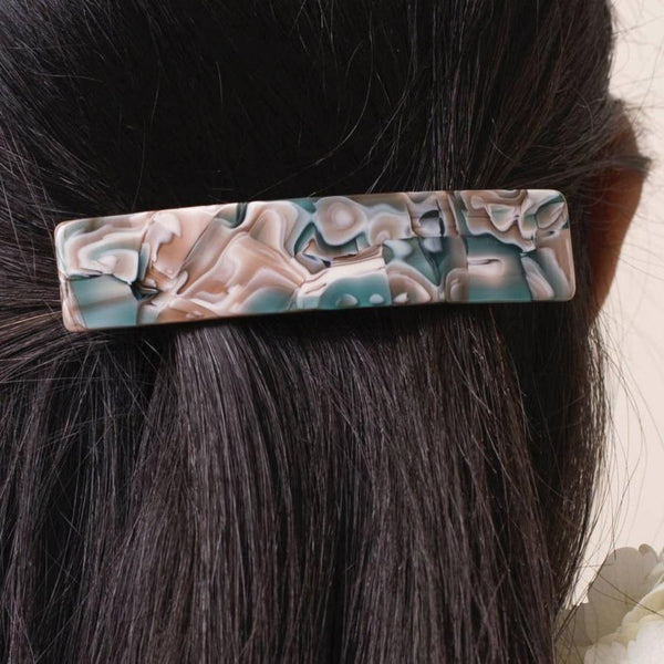 Ivy Wide Barrette Hair Clip - Eco Acetate
