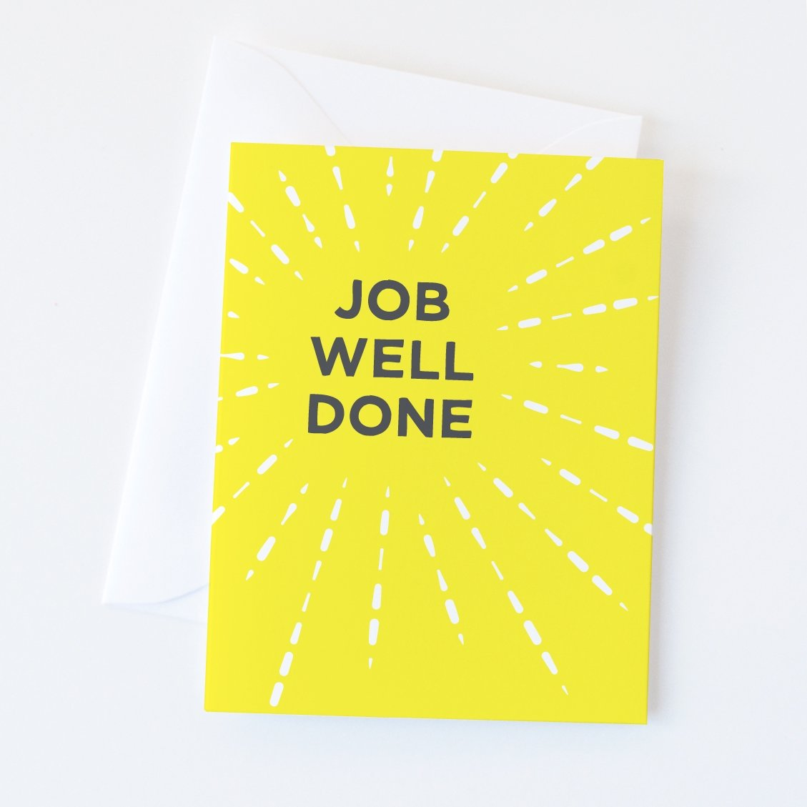 Job Well Done Greeting Card - Graphic Anthology -Freehand Market