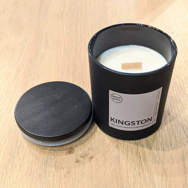 Kingston Candle - Bright Black Candles -Freehand Market