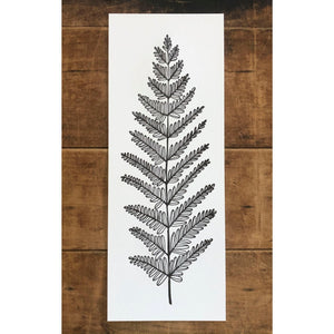 Leafy Fern Letterpress Print 5.5x14 - Ratbee Press -Freehand Market
