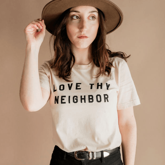 Love Thy Neighbor Unisex Tee - Polished Prints -Freehand Market