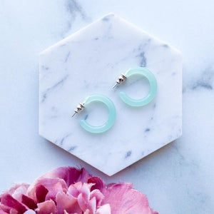 Mini Seafoam Hoops - Eco Acetate - Fenna & Fei -Freehand Market