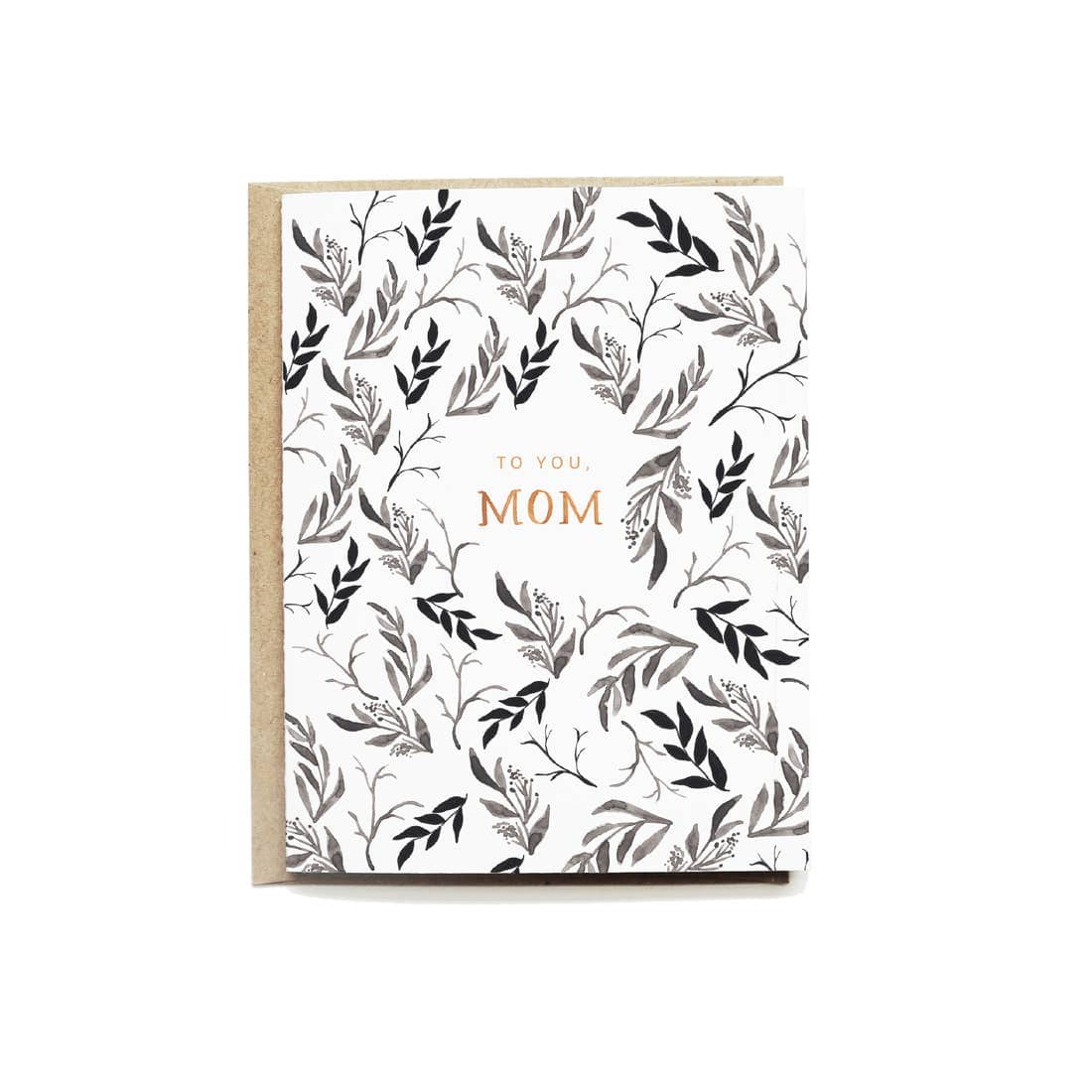 Black Floral Mother's Day Card