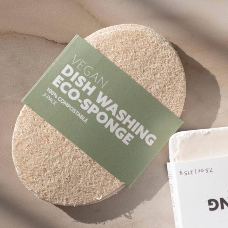 Natural Dish or Body Wash Sponge (3 pack)
