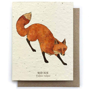 Plantable Seed Paper Greeting Card - Red Fox - The Bower Studio -Freehand Market