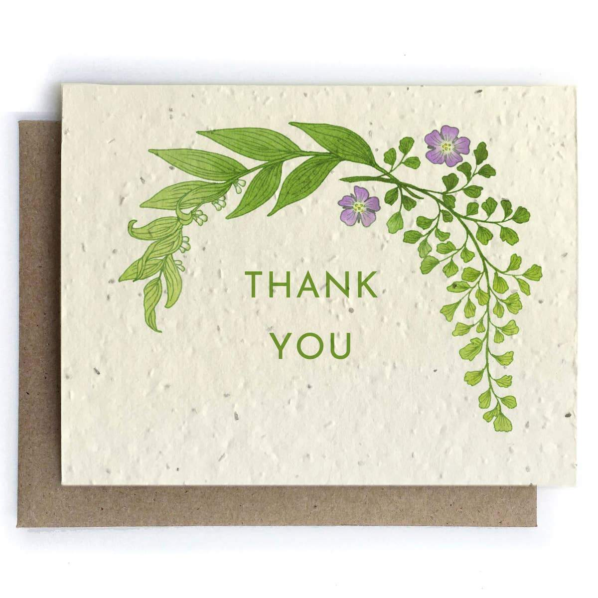 Plantable Seed Paper Greeting Card - Thank You - The Bower Studio -Freehand Market