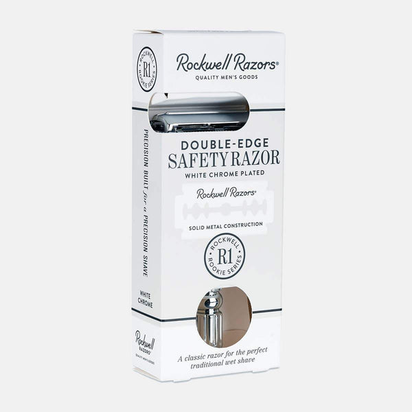 Plastic-Free Chrome Safety Razor - Rockwell Razors -Freehand Market
