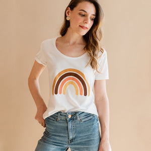 Rainbow Scoop Tee - Polished Prints -Freehand Market