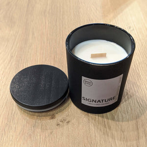 Signature Candle - Bright Black Candles -Freehand Market