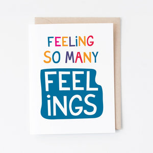 So Many Feelings Greeting Card - Graphic Anthology -Freehand Market
