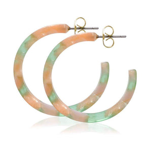 Small Taffy Colored Hoops - Eco Acetate