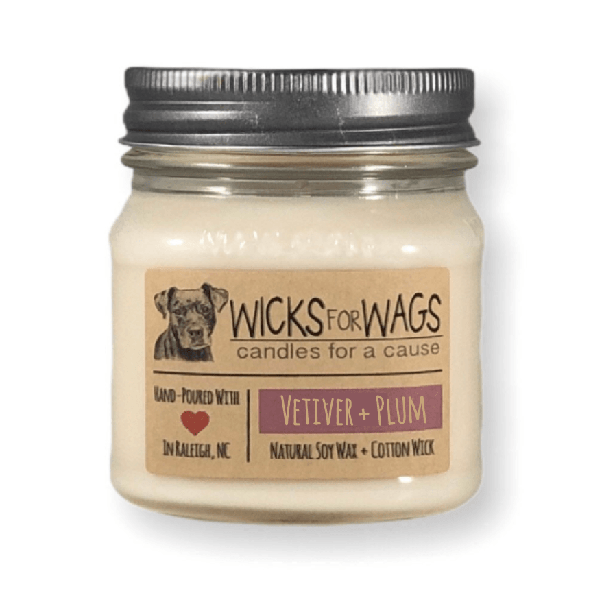 Vetiver + Plum Soy Candle - Wicks for Wags -Freehand Market