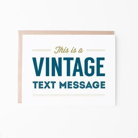 Vintage Text Message Greeting Card - Graphic Anthology -Freehand Market