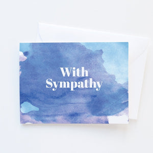 Watercolor Sympathy Card - Graphic Anthology -Freehand Market