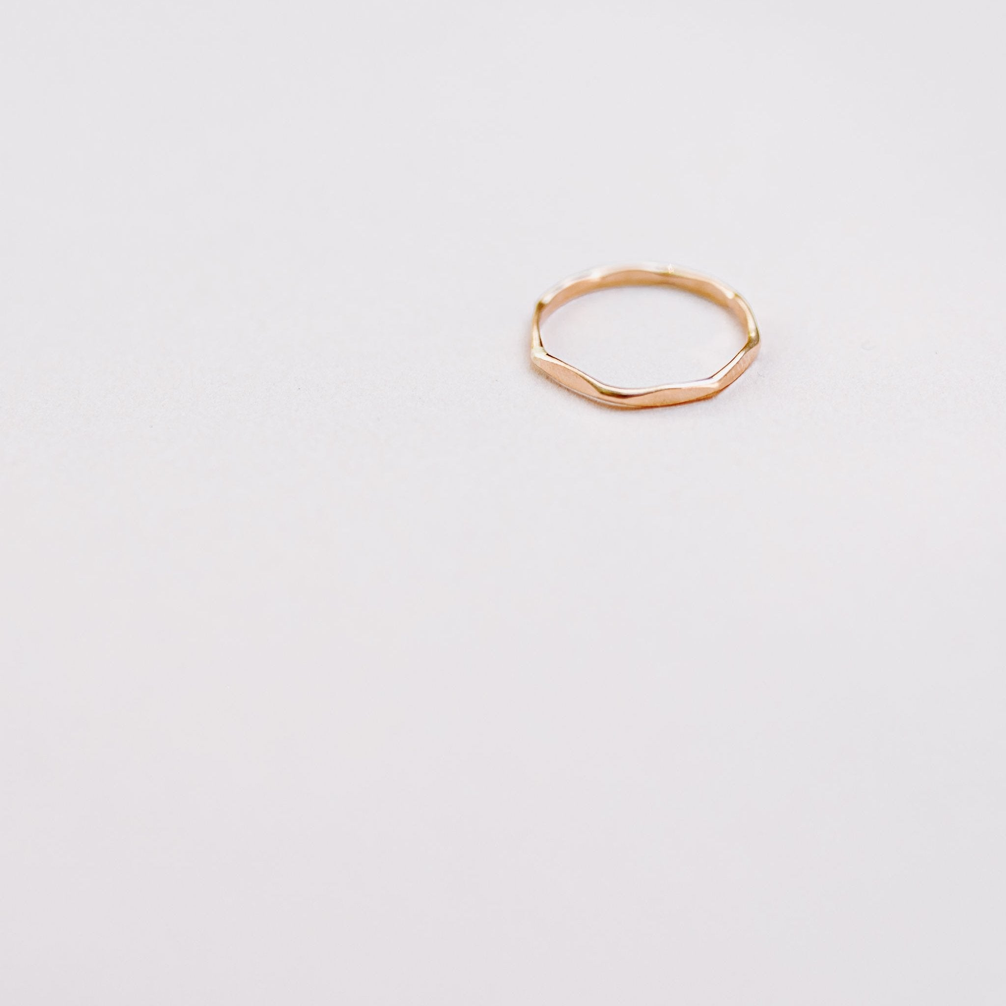 Worthy Gold Stacking Ring - Wind Blown Jewelry -Freehand Market
