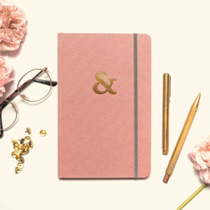 Rose Ampersand Hardcover Notebook (Lined)