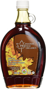 MAPLE SYRUP, DARK, CANADIAN HERITAGE, ORGANIC