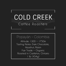 Load image into Gallery viewer, COLD CREEK COFFEE ROASTERS, LOCAL