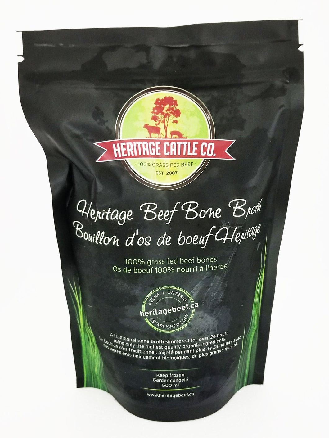 HERITAGE CATTLE CO, GRASS FED BEEF BONE BROTH