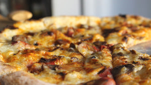 VINTAGE PIZZA PIE, SMOKED DUCK FUNGI