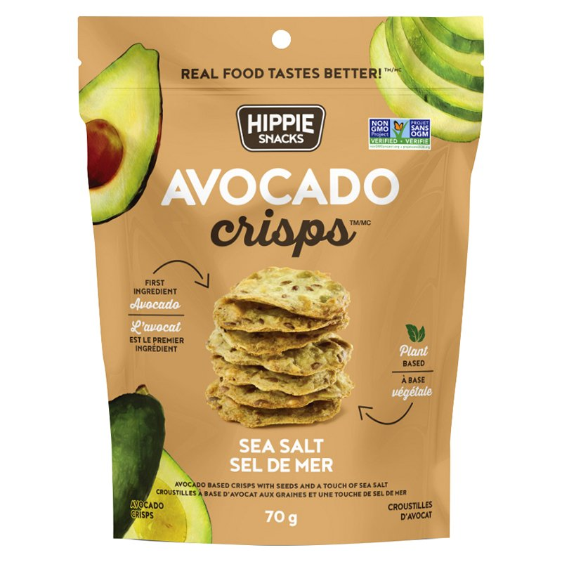 HIPPIE FOODS, AVOCADO, SEA SALT, CRISPS