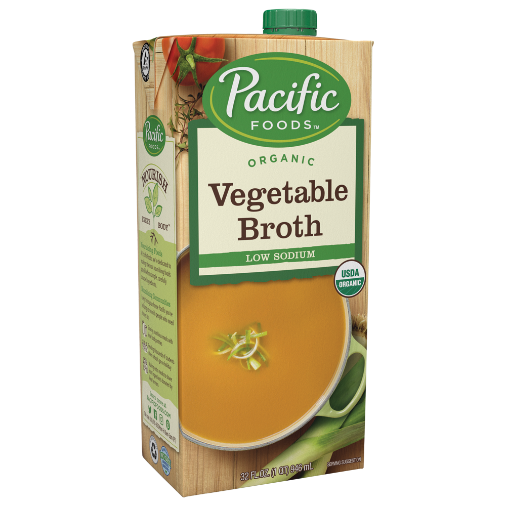PACIFIC NATURAL FOODS, VEGETABLE BROTHS, LOW SODIUM