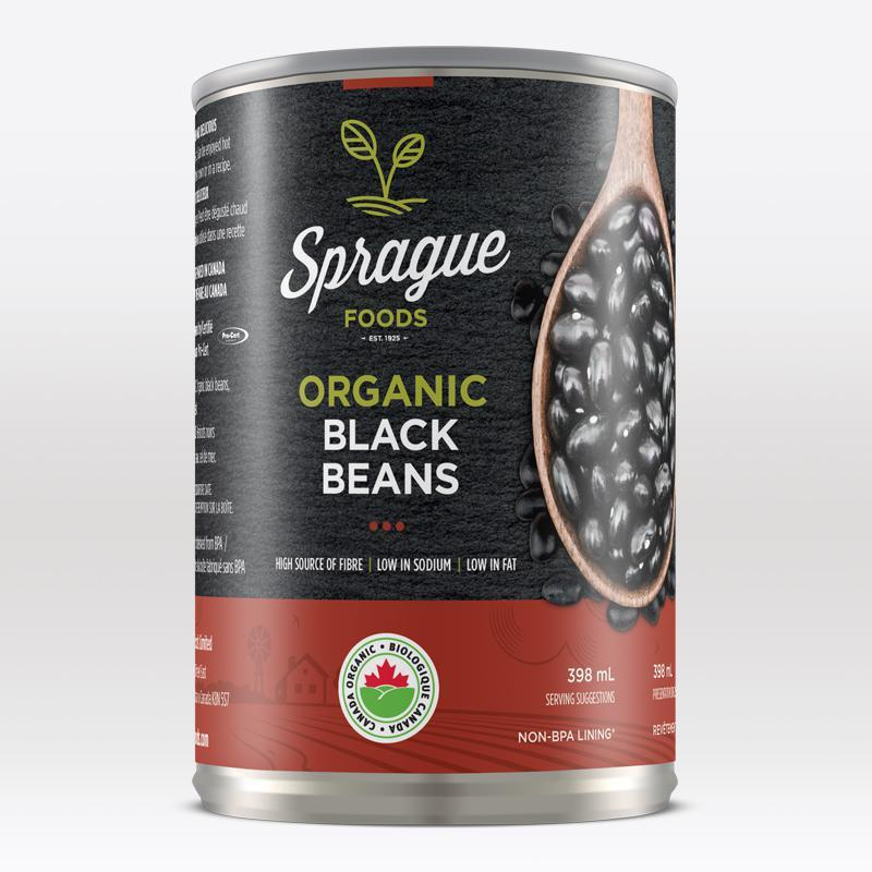 SPRAGUE FOODS, BLACK BEANS BIG ISLAND, ORGANIC