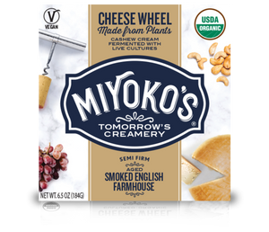 MIYOKO'S CREAMERY, SMOKED ENGLISH FARMHOUSE CASHEW CHEESE