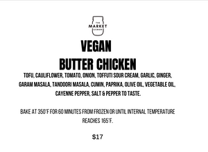 BUTTER CHICKEN, VEGAN