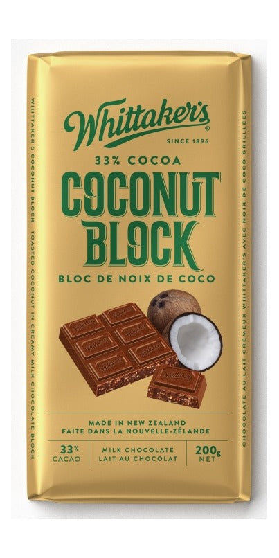 WHITTAKERS, COCONUT BLOCK