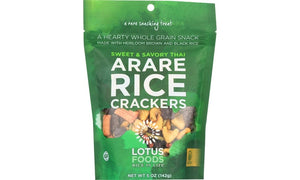 RICE CRACKERS, LOTUS FOODS SWEET & SAVORY, ARARE