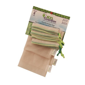 PRODUCE BAGS, ECO GUARDIAN, 4 PACK