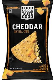 FOOD SHOULD TASTE GOOD, CHEDDAR TORTILLA CHIPS