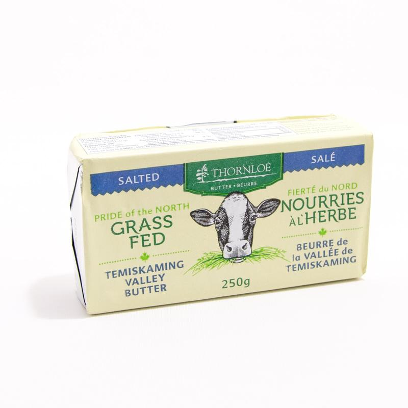 BUTTER, SALTED, THORNLOE 250G