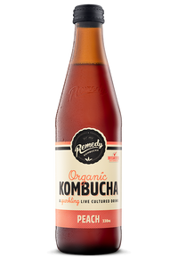REMEDY, KOMBUCHA, PEACH