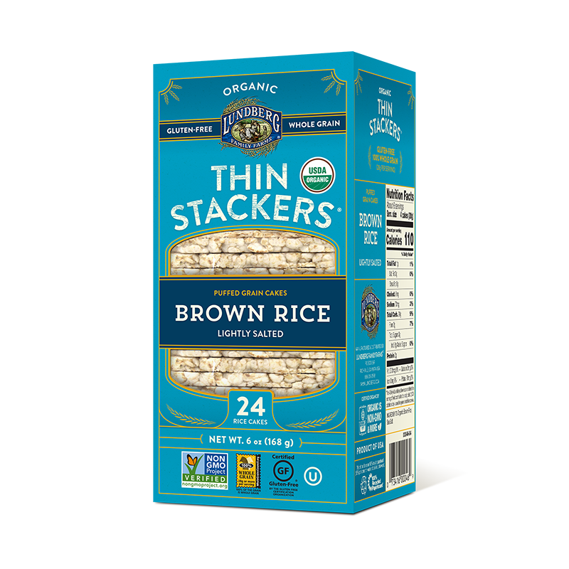 LUNDBERG, THIN STACKERS BROWN, LIGHTLY SALTED