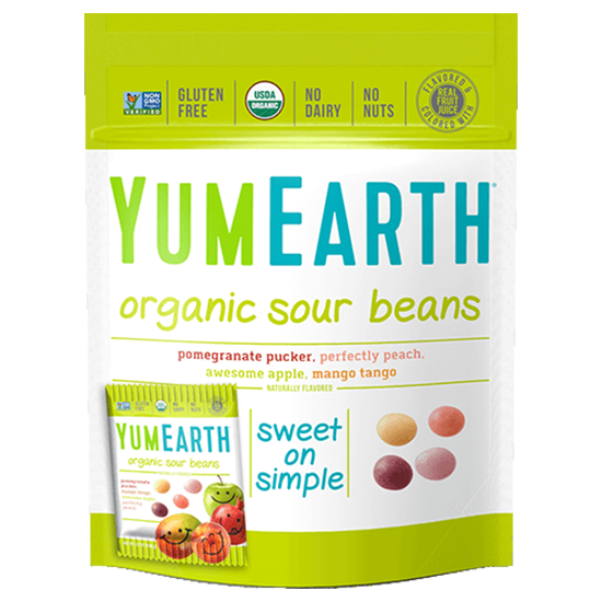 YUM EARTH, EASTER SOUR BEANS, ORGANIC