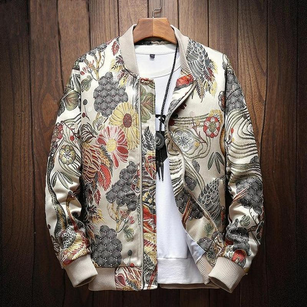 Embroidery Bomber Jacket